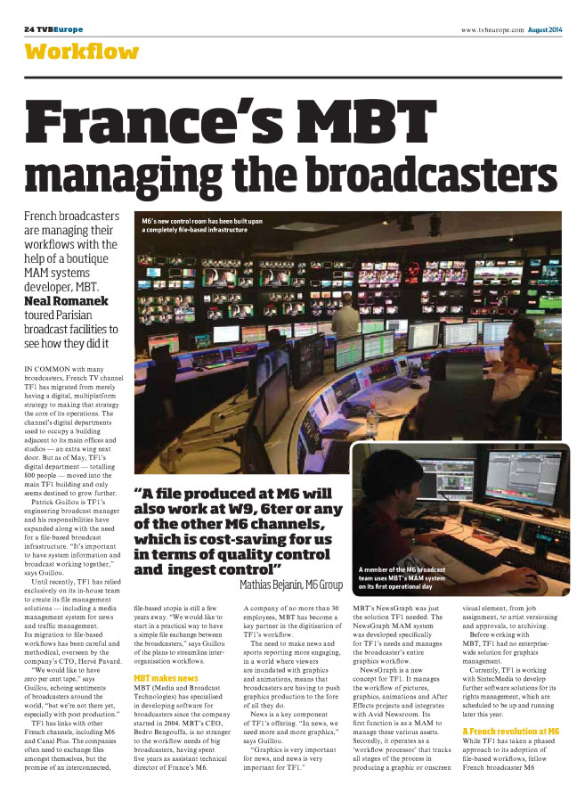 France's MBT Managing the Broadcasters
